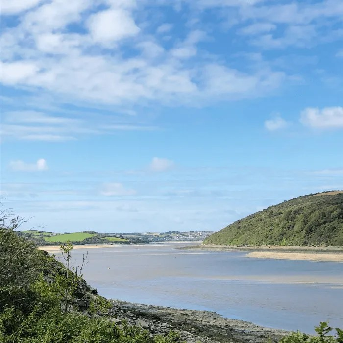 The Camel Estuary at low tide from Wadebridge to Padstow