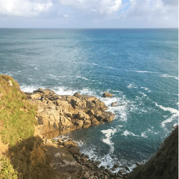 Rocks, cliffs and the sea