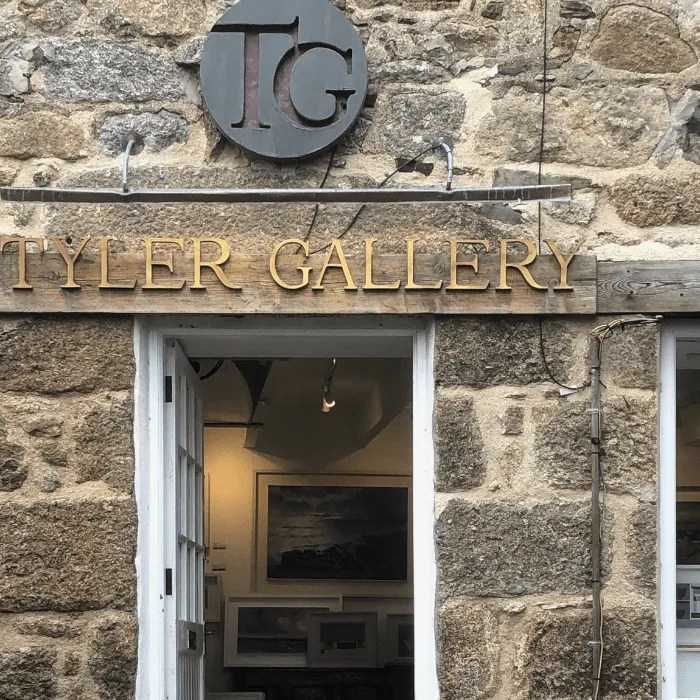 The front of Tyler Gallery in Mousehole