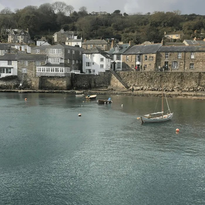 Mousehole houses on the seafront