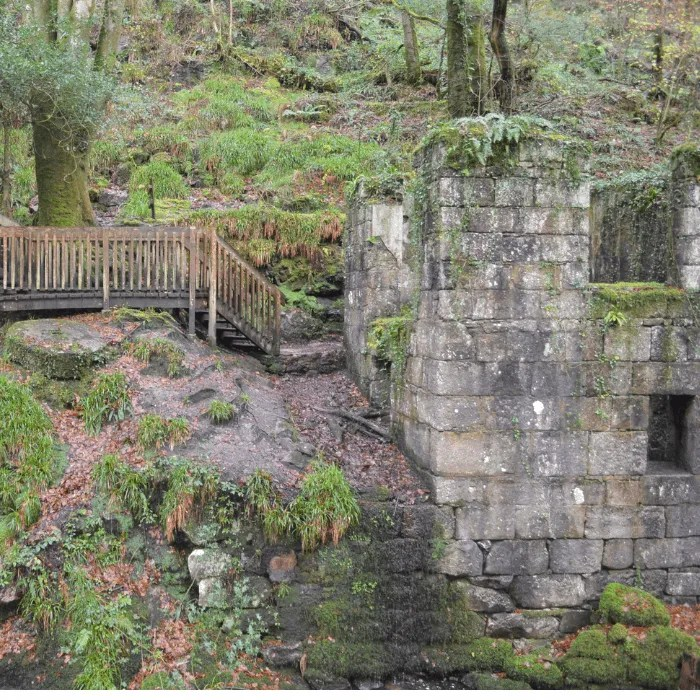 Part of the gunpowder works at Kennall Vale