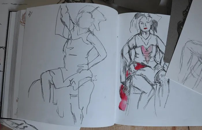 Life drawings from St Ives School of Painting