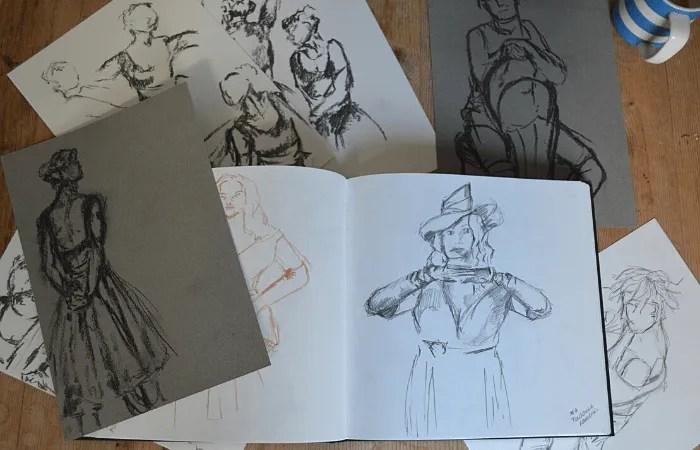 Life drawing sketches