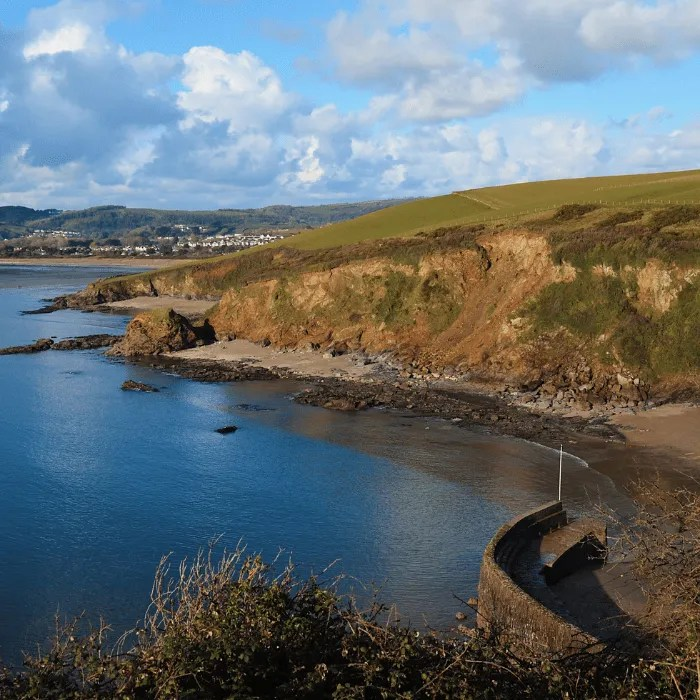 Polkerris beach and Harbour