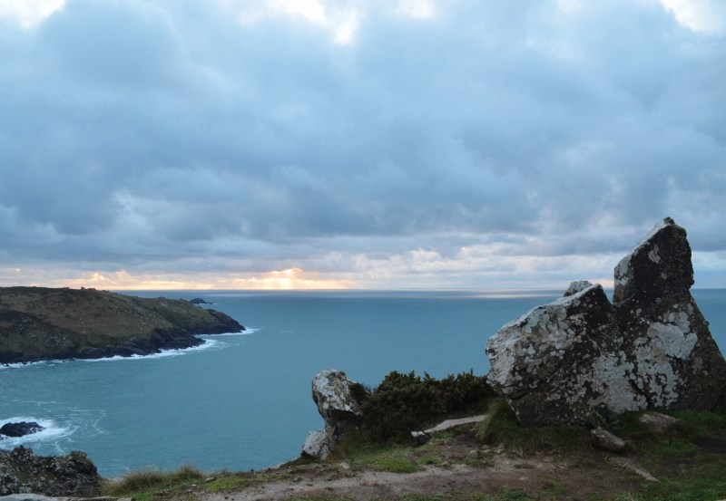 the sea and coastline on the Tin Coast, Cornwall