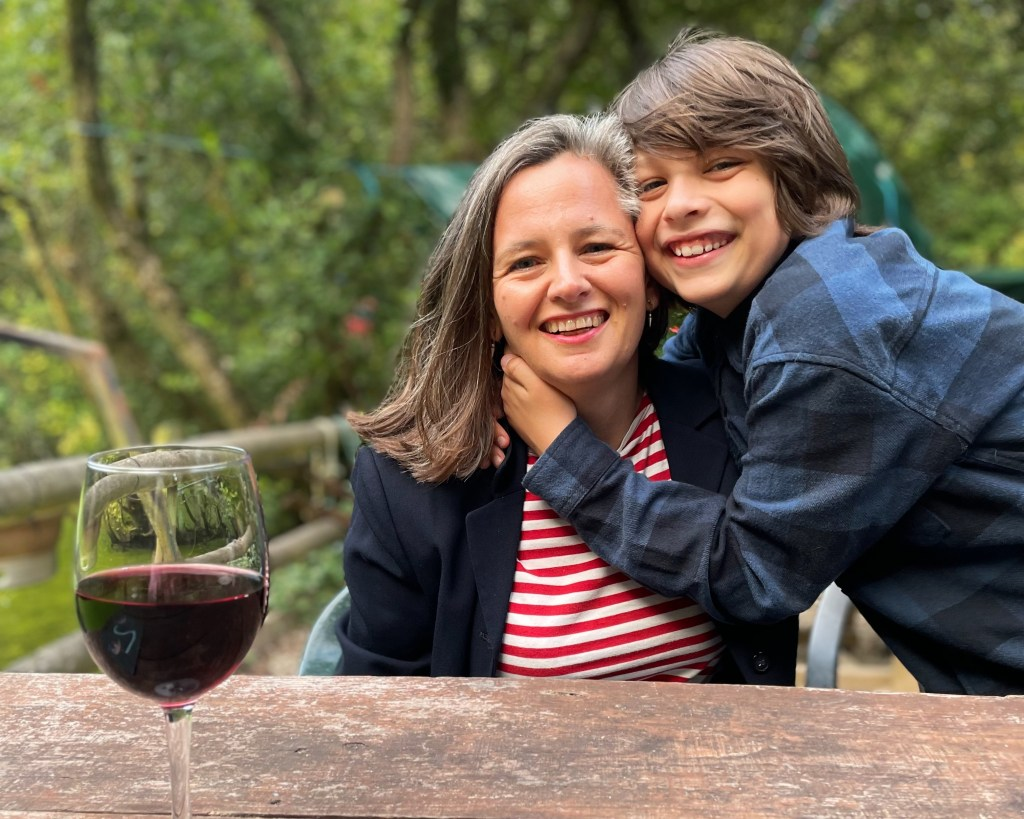 Penny Sherwood and her son at Melinsey Mill