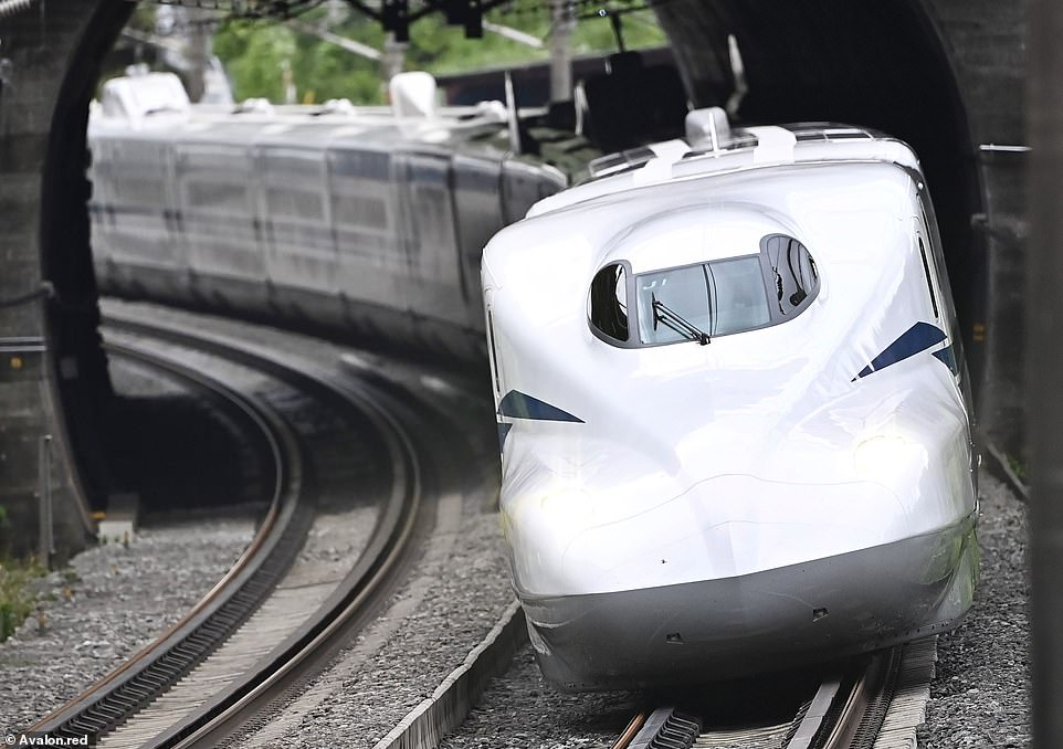 A new bullet train - the N700S (pictured) - has entered service in Japan that's the country's fastest, smoothest, most comfortable and safest yet. It's able to 'escape' to safety in the event of an earthquake
