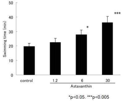 蝦紅素 運動 耐力