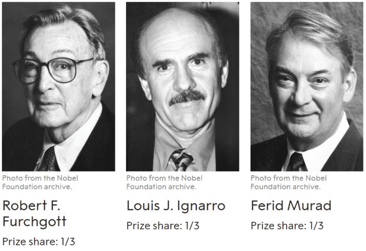 諾貝爾獎一氧化氮