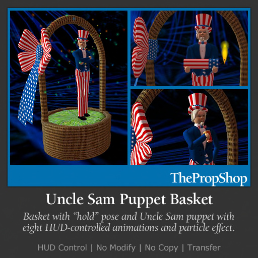Uncle Sam Puppet In A Basket
