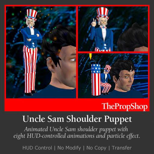 Uncle Sam Shoulder Puppet