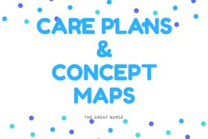 Care plans and concept maps