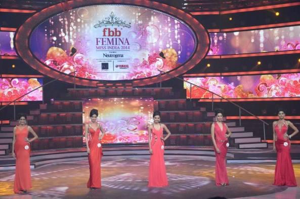 Top 5 at Femina Miss India 2014