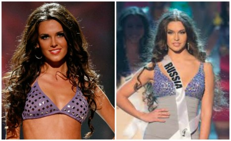 Irina and Elizaveta at Miss Universe 2010 and 2012