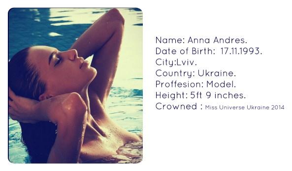 Anna Andres~Miss Universe Ukraine 2014