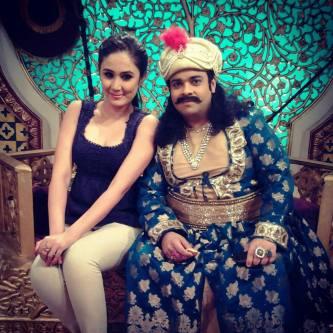 Mrinalni Singh with famous comedian Kiku