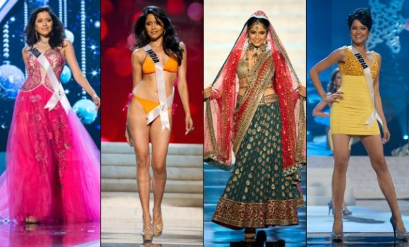 Shilpa in different rounds of Miss Universe 2012