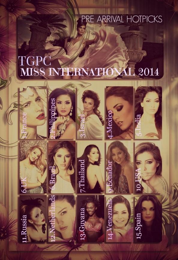 MISS INTERNATIONAL 2014 ~PRE ARRIVAL HOTPICKS
