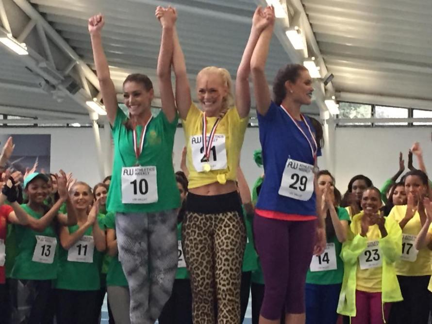 Top 3 winners of Miss World Sports Fast Track