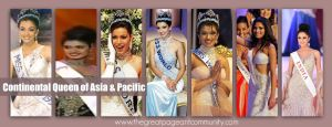 India has 7 Continental Queen of Asia & Pacific crown i.e. 1994,1996,1997,1999,2000,2008 & 2014.
