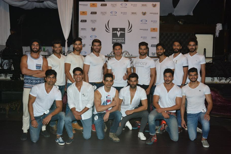 Mr India World 2015 Contestants :TOP (L-R) Rajatdeep Singh, Rahul Rajasekharan, Rishabh Bajaj, Rupinderjit Singh, Viren Barman, Rohit Khandelwal, Shishir Singh, Prateek Gujral, Sagar Gera BOTTOM (L-R) Ulhas Dhiman, Neeraj Sharma, Manish Mudgil, Jitesh Thakur, Suraj Chhajed, Ankit Arora