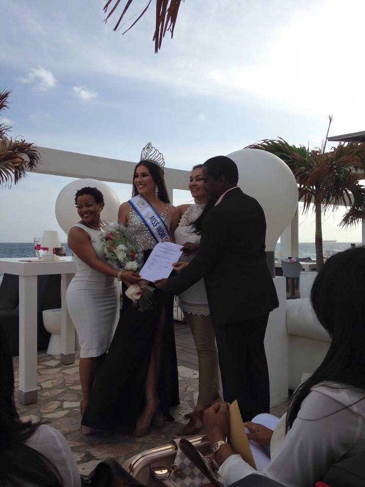 Alexandra Krijger Miss  World-Curaçao 2015