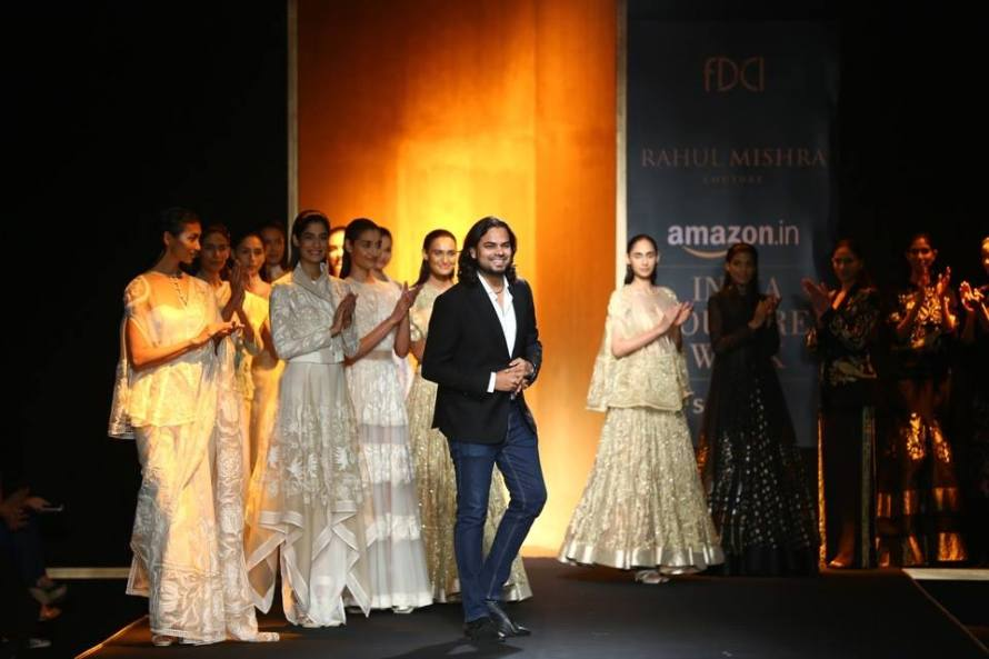 Rahul Mishra after presenting his Tree Tree of Life Collection at Amazon India Couture Week 2015