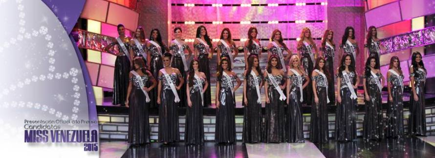 Miss Venezuela 2015 Contestants at  Press Presentation