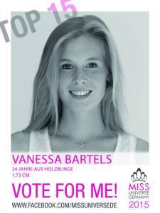 Jouline Vanessa Bartels, Miss Universe Germany 2015 Contestants