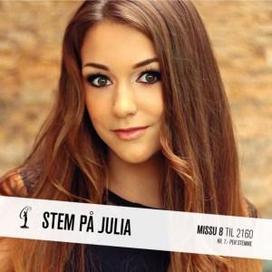 Julia Miss Universe Norway 2015 Contestants