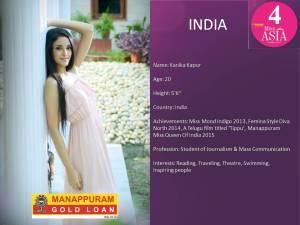Miss Asia 2015, Kanika Kapur