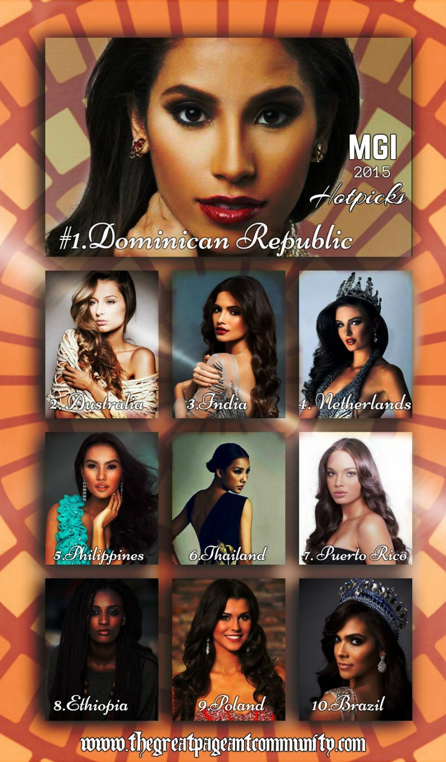Miss Grand International 2015 Pre Arrival Hotpicks