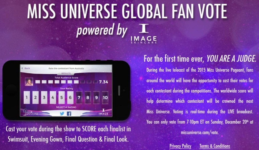 Miss Universe 2015 Fan Vote