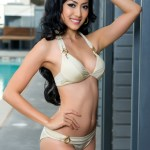Miss Myanmar-May Thaw during Miss Universe 2015 swimsuit portrait