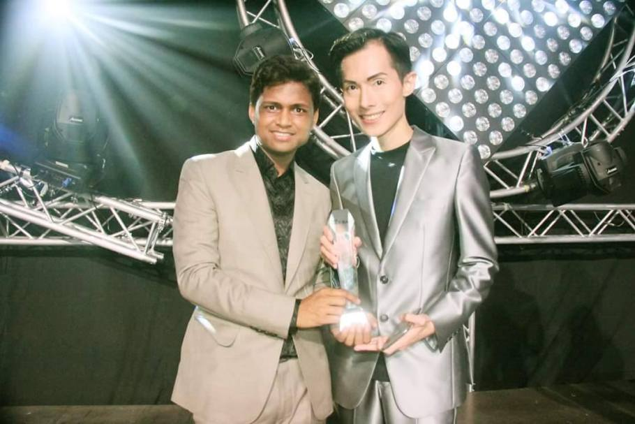 Mr Sandeep Kumar, founder and president of the Rubaru Group with Mr Alan Sim, founder and president of Mister International Organization