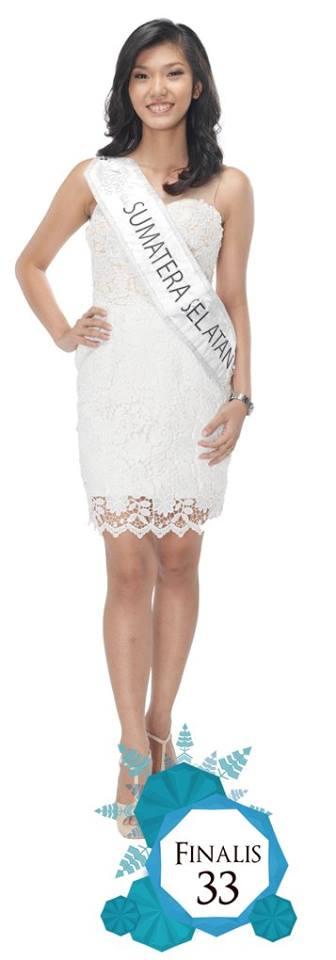 Maria Chelsea Tiffany  is representingSUMATERA SELATAN  at Miss Indonesia 2016