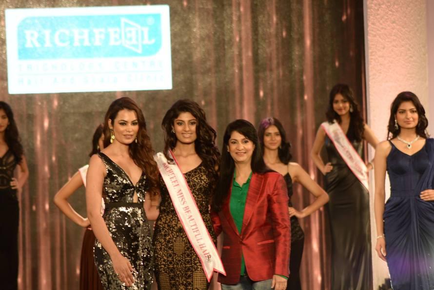 Niharika Anand won Richfeel Miss Beautiful Hair at Femina Miss India 2016 Sub Contest