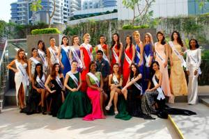 Supermodel International 2016 contestants during evening gown photo shoot