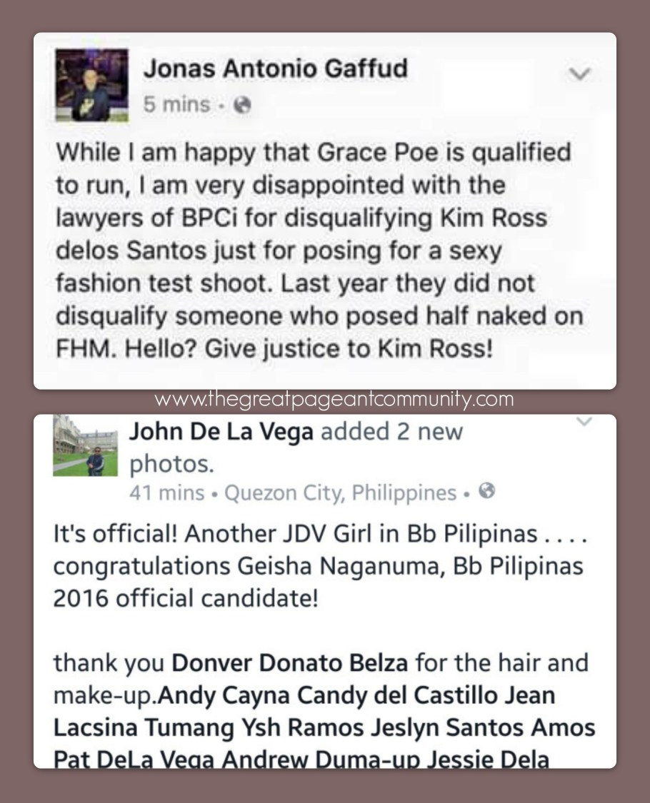Kim Ross disqualified from Binibining Pilipinas 2016