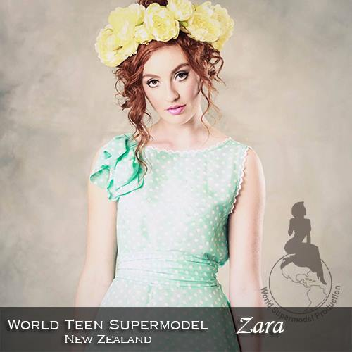 World Teen Supermodel New Zealand - Zara is a contestant at World Supermodel 2016