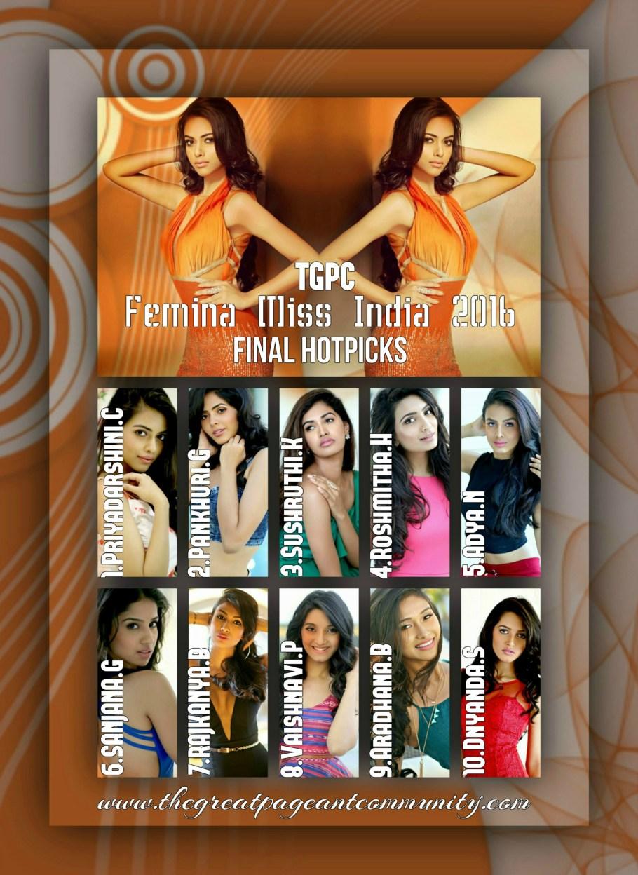 Femina Miss India 2016 Final Hotpicks winner will represent India at Miss World 2016 pageant