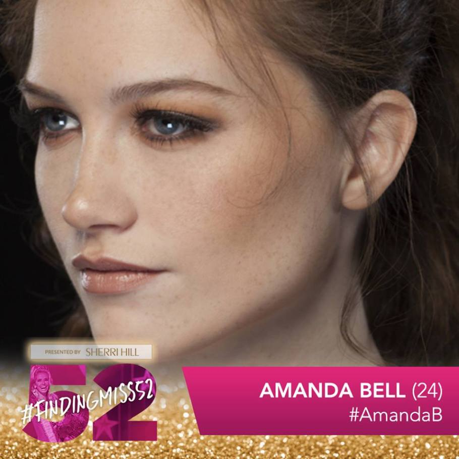 Amanda Bell is a top 10 finalist at this year's finding Miss 52