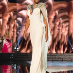 Emanii Davis, Miss Georgia USA competes during the evening gown competition at Miss USA 2016 preliminary show