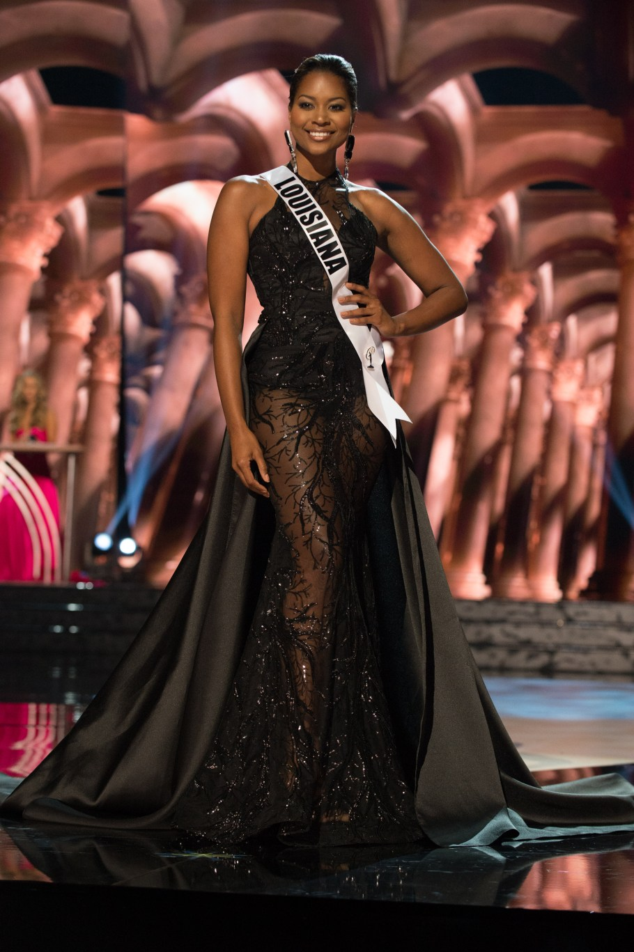Maaliayh Papillion, Miss Louisiana USA 2016 is one of the best in Best and the worst Evening Gowns at Miss USA 2016 Preliminary show