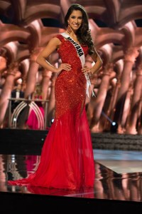 Sibahn Doxey, Miss Montana USA competes during the evening gown competition at Miss USA 2016 preliminary show