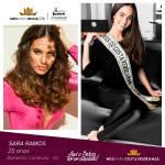 Sara Ramos is representing COSTA VERDE & MAR - SC at Miss Mundo Brasil 2016