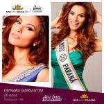 Taynara Gargantini is representing PARANÁ at Miss Mundo Brasil 2016