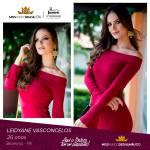 Leidyane Vasconcelos is representing PERNAMBUCO at Miss Mundo Brasil 2016