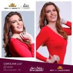 Carolina Luz is representing vale dos SINOS - RS at Miss Mundo Brasil 2016
