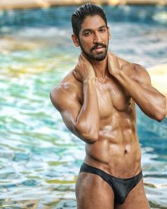 Tejas Ravishankar during Mr.India 2016 Bare Body Photo Shoot